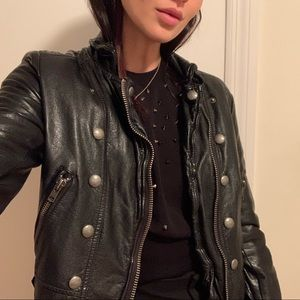 Free people vegan leather biker jacket